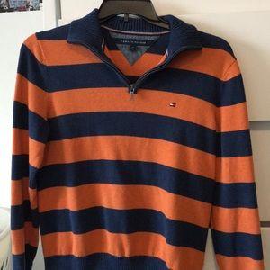 Tommy Hilfiger Blue/Orange Quarter Zip